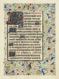 Flemish 15th Century - Decorated Text Page