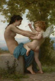 William-Adolphe Bouguereau - A Young Girl Defending Herself against Eros