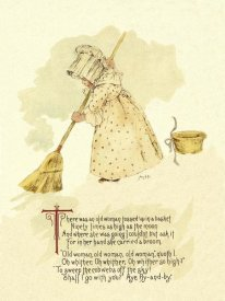 Maud Humphrey - Nursery Rhymes: There Was an Old Woman Tossed Up in a Basket