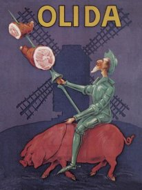Advertisement - Pigs and Pork: Don Quixote Riding a Pig