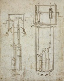 Francesco di Giorgio Martini - Folio 5: two piston pumps