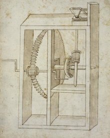Francesco di Giorgio Martini - Mill powered by crank