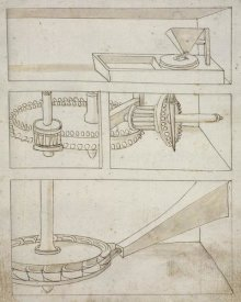 Francesco di Giorgio Martini - Mill with horizontal water wheel