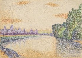 Albert Dubois-Pillet - The Banks of the Marne at Dawn