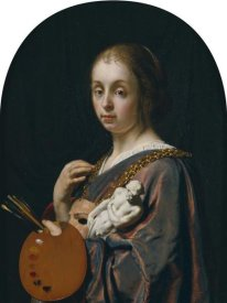 Frans van Mieris the Elder - Pictura (An Allegory of Painting)