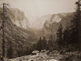 Carleton Watkins - The Yosemite Valley from Inspiration Pt. Mariposa Trail, 1865-1866