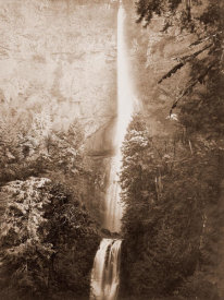 Carleton Watkins - Multnomah Falls, Columbia River, Oregon, 2500 feet., 1867