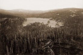 Carleton Watkins - Dams and Lake, Nevada County, California, Distant View, about 1871
