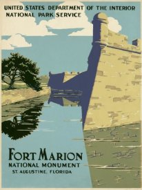 WPA - Fort Marion National Monument, St. Augustine, Florida, ca. 1938