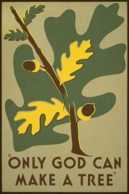 Stanley Thomas Clough - Only God Can Make a Tree, 1938