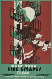 WPA - Keep your fire escapes clear