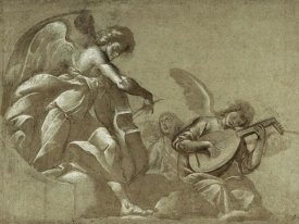 Morazzone (Pie Francesco Mazzuchelli) - Angel Musicians (recto); Head Studies (verso)