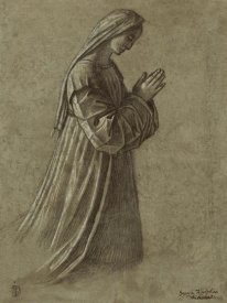 Vittore Carpaccio - Study of the Virgin (recto); Study of the Virgin and of Hands (verso)