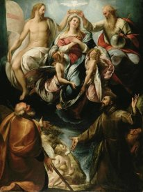 Giulio Procaccini - Coronation of the Virgin with Saints Joseph and Francis of Assisi