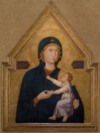 Unknown 13th Century Italian Illuminator - Madonna and Child