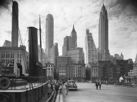 Philip Gendreau - New York Skyline with Tugboat, 1937