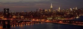 Richard Berenholtz - Midtown Manhattan and Williamsburg Bridge