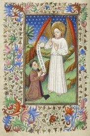Unknown 15th Century French Illuminator - A Patron and his Guardian Angel