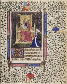 Unknown 15th Century Netherland Illuminator - A Woman in Prayer before the Virgin and Child