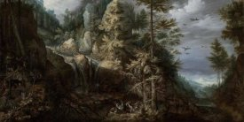Roelandt Savery - Landscape with the Temptation of Saint Anthony
