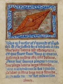 Unknown 12th Century English Illuminator - Christs Side Wound