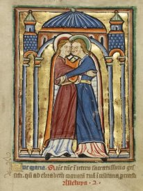 Unknown 12th Century English Illuminator - The Visitation