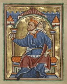 Unknown 12th Century English Illuminator - Herod Enthroned