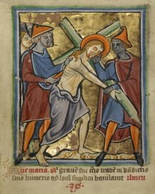 Unknown 12th Century English Illuminator - Christ Carrying the Cross