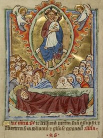 Unknown 12th Century English Illuminator - The Death of the Virgin