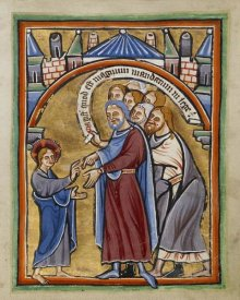 Unknown 12th Century English Illuminator - Christ Among the Doctors