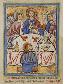 Unknown 12th Century English Illuminator - The Last Supper
