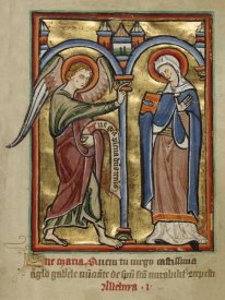 Unknown 12th Century English Illuminator - The Annunciation