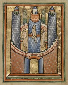 Unknown 12th Century English Illuminator - Egypt; The Fall of Pagan Idols