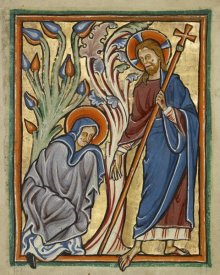 Unknown 12th Century English Illuminator - Noli me Tangere