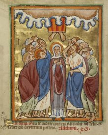 Unknown 12th Century English Illuminator - The Ascension