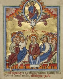Unknown 12th Century English Illuminator - Pentecost