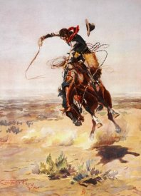 Charles M. Russell - A Bad Hoss, 1904