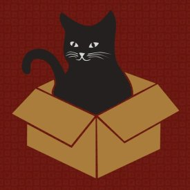BG.Studio - Cat in a Box - Red