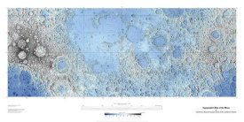 United States Geological Survey - Decorative Topographic Map of the Moon, Projection