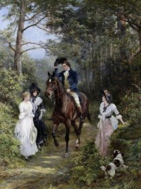 Heywood Hardy - The Meeting in the Forest, 1903