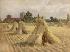 Heywood Hardy - Corn Stooks by Bray Church, 1872