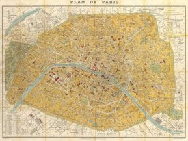 Joannoo - Gilded Map of Paris