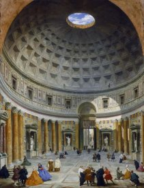 Giovanni Paolo Panini - Interior of the Pantheon, Rome, c. 1734