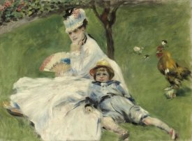 Pierre-Auguste Renoir - Madame Monet and Her Son