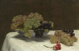 Henri Fantin-Latour - Still Life with Grapes and a Carnation, c. 1880