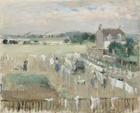 Berthe Morisot - Hanging the Laundry out to Dry, 1875