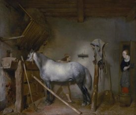 Gerard ter Borch - Horse Stable
