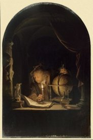 Gerrit Dou - Astronomer by Candlelight, late 1650s