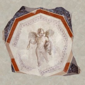 Unknown 1st Century Roman Artisan - Fresco Depicting Cupid holding Two Sticks and a Pail