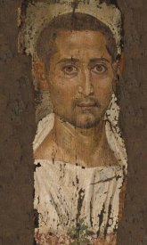 Unknown 3rd Century Romano-Egyptian Artisan - Mummy Portrait of a Bearded Man